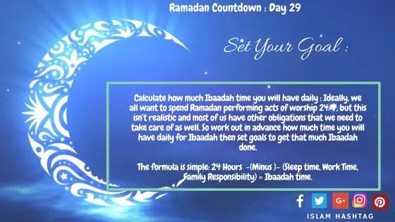 Prepparing for ramadan