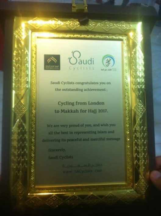 award hajj riders