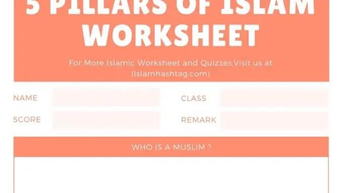 5 pillars of islam worksheet islam hashtag. Black Bedroom Furniture Sets. Home Design Ideas