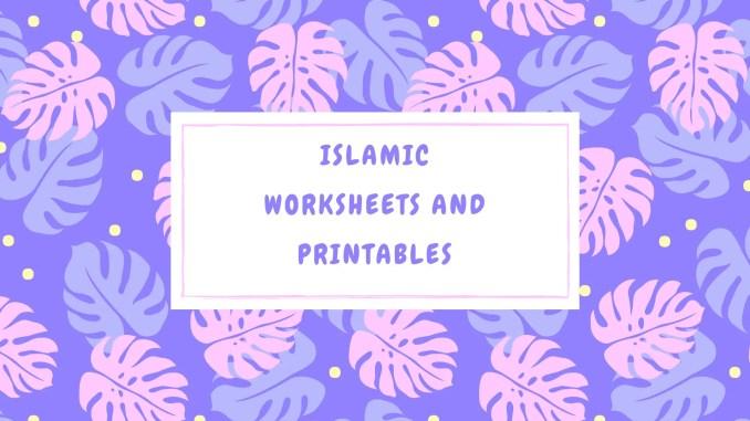 Islamic worksheet