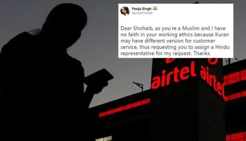 airtel muslim bigotry