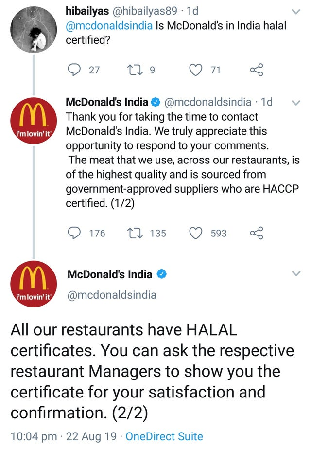 #boycottMcdonalds is trending in India because they said they serve Halal food