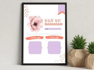 uhur Iftar printable for Ramadan