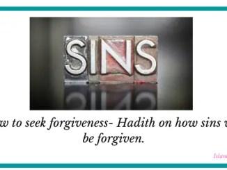 hadith on sins