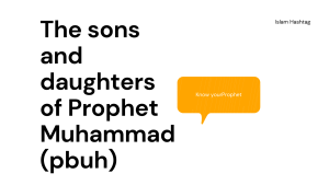 The sons and daughters of Prophet Muhammad (pbuh)