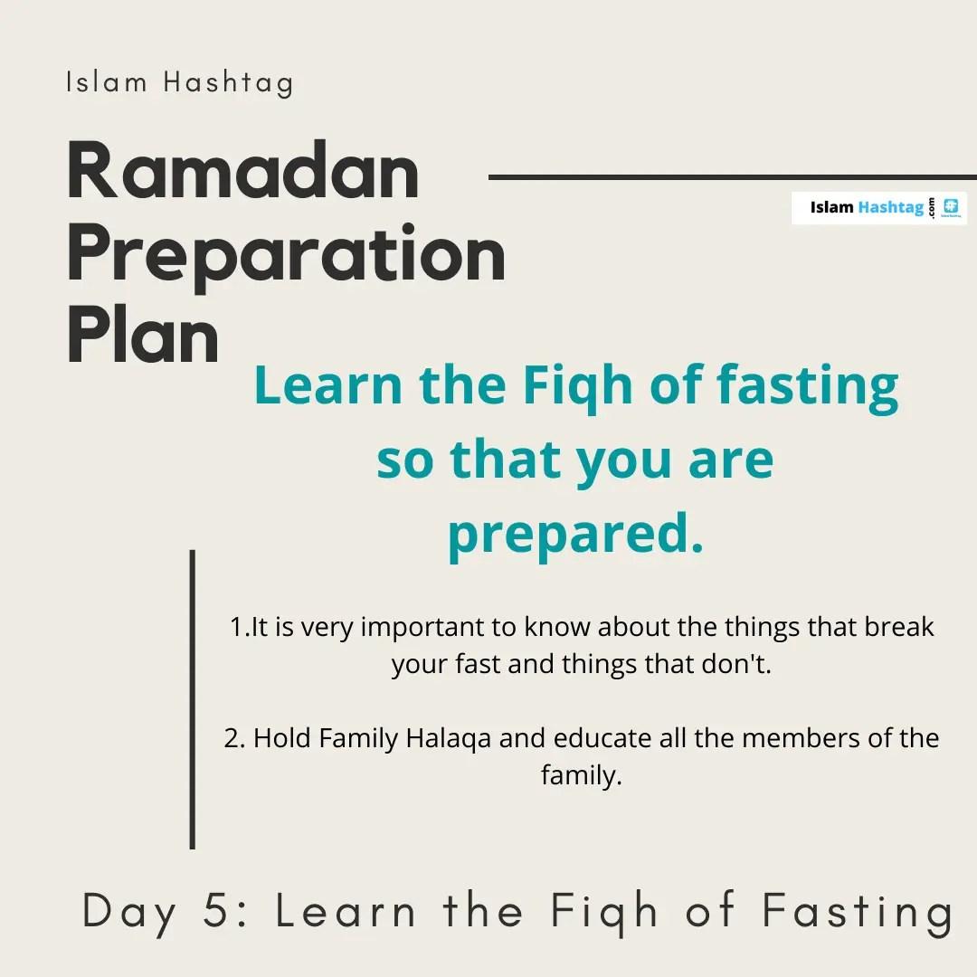 Learn the Fiqh of Fasting- Ramadan Preparation Plan