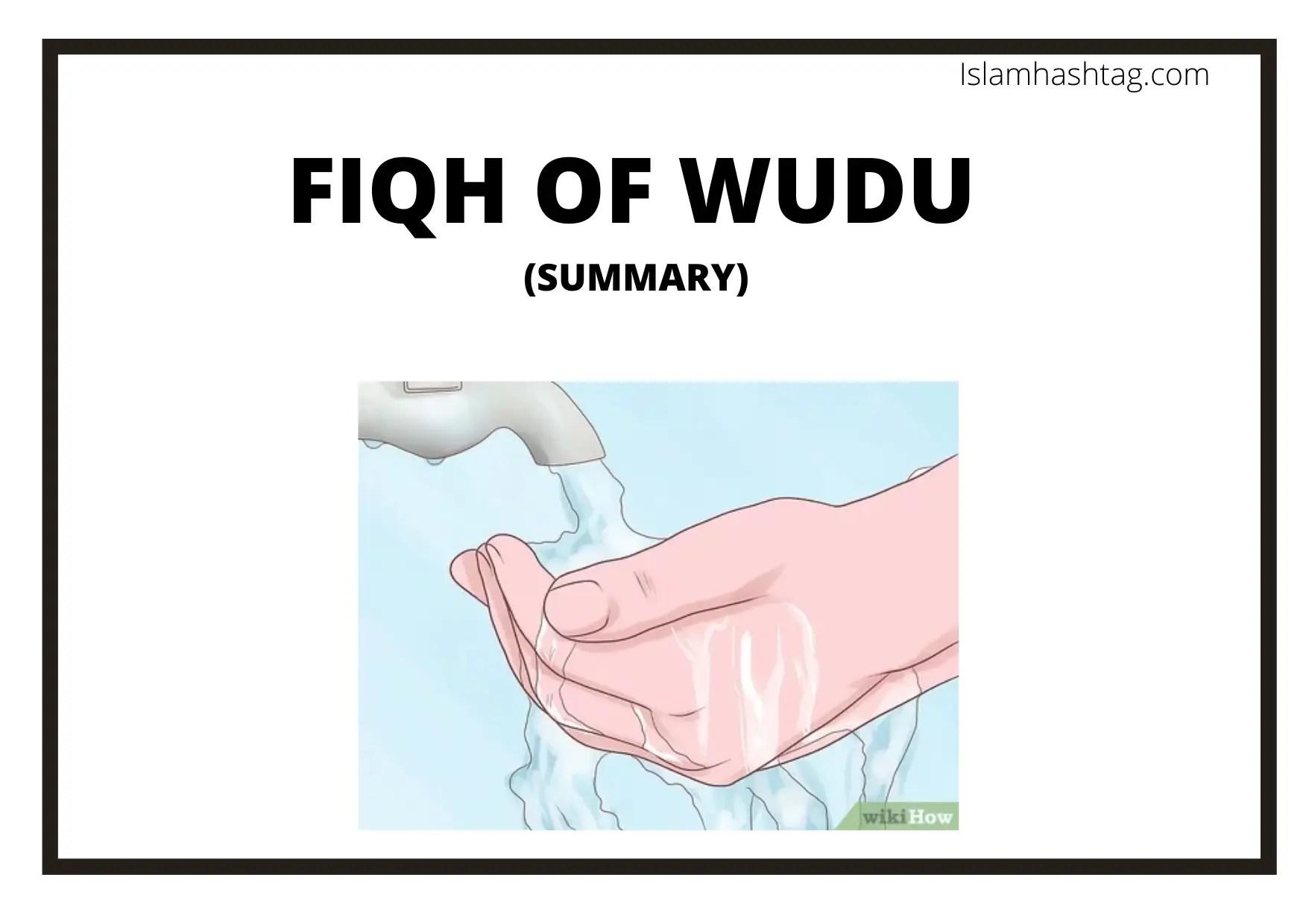 fiqh of wudu