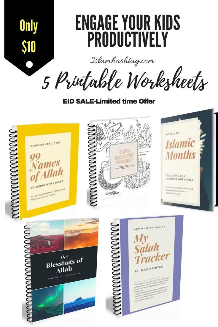 Ramadan Bundle - Islamic Printable Worksheets on Sale - Islam Hashtag