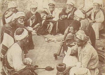 Formar Palestina de hacer el café, 1900