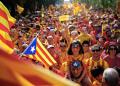 Miles de personas celebran La Diada el pasado 11 de septiembre en Barcelona.