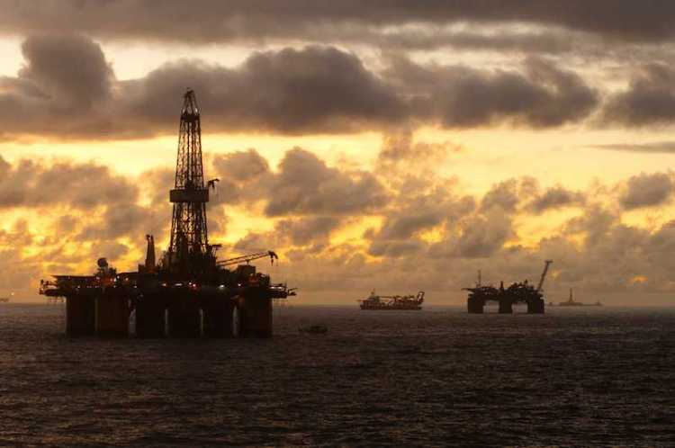 Oil field at Sunset