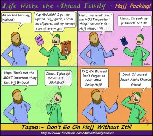 Life with the Ahmad Family Comics - Hajj Packing