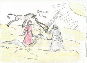 Horse in the desert - Islamic illustrations by Muslim Kids