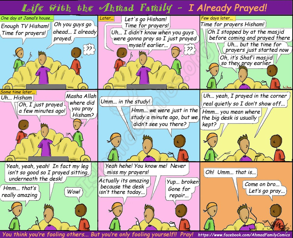 Islamic Comic reminding us that whatever we say, Allah always knows!