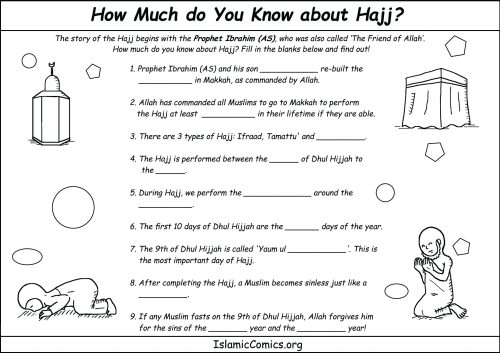 small resolution of How Much Do You Know About Hajj? (Fill in the Blanks) - Islamic Comics