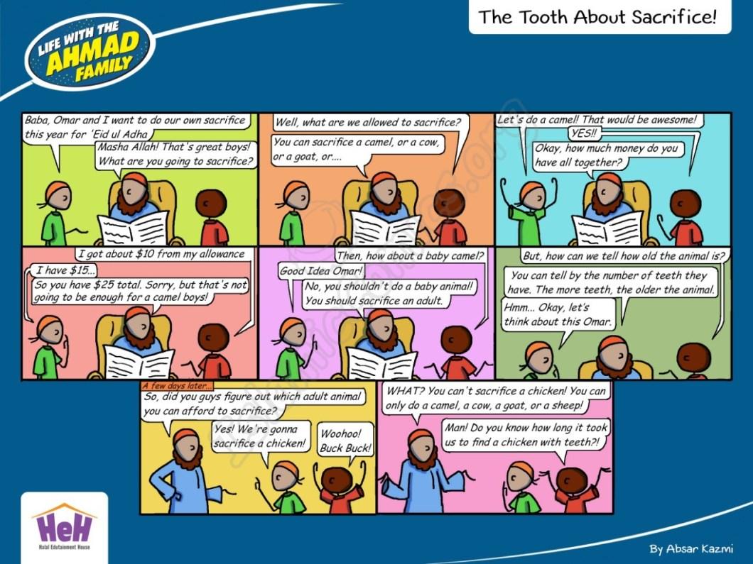 The Tooth About Sacrifice - Ahmad Family Islamic Comic