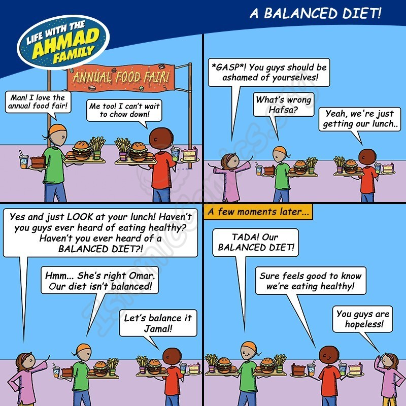 Balanced Diet - Ahmad Family Comic (Islamic Comics)