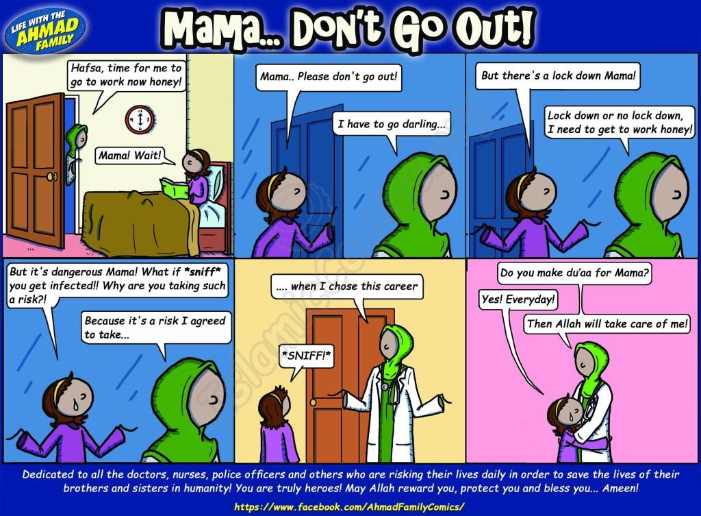 Mama, Don't Go Out! - Ahmad Family Islamic Comic