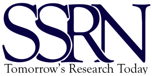 "SSRN's logo featuring the letters ""S"" ""S"" ""R"" ""N"" in capital letters"