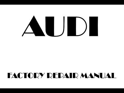 Audi A8 Workshop Manual Pdf
