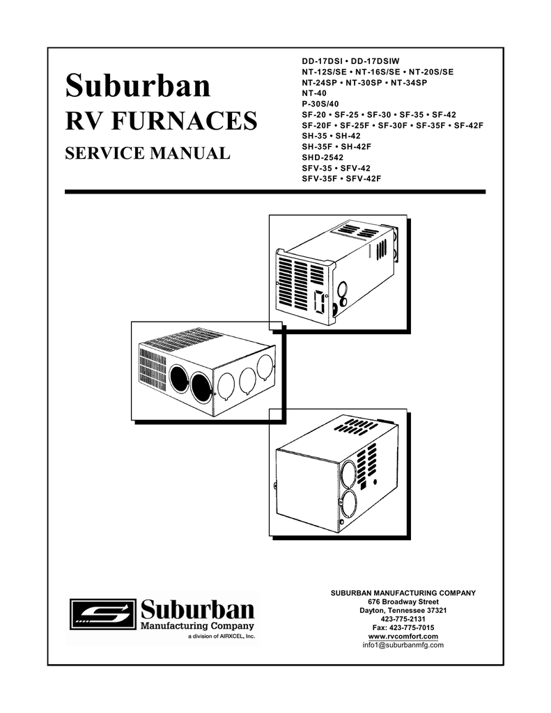 Suburban Propane Furnace Model P-30s Service Manual