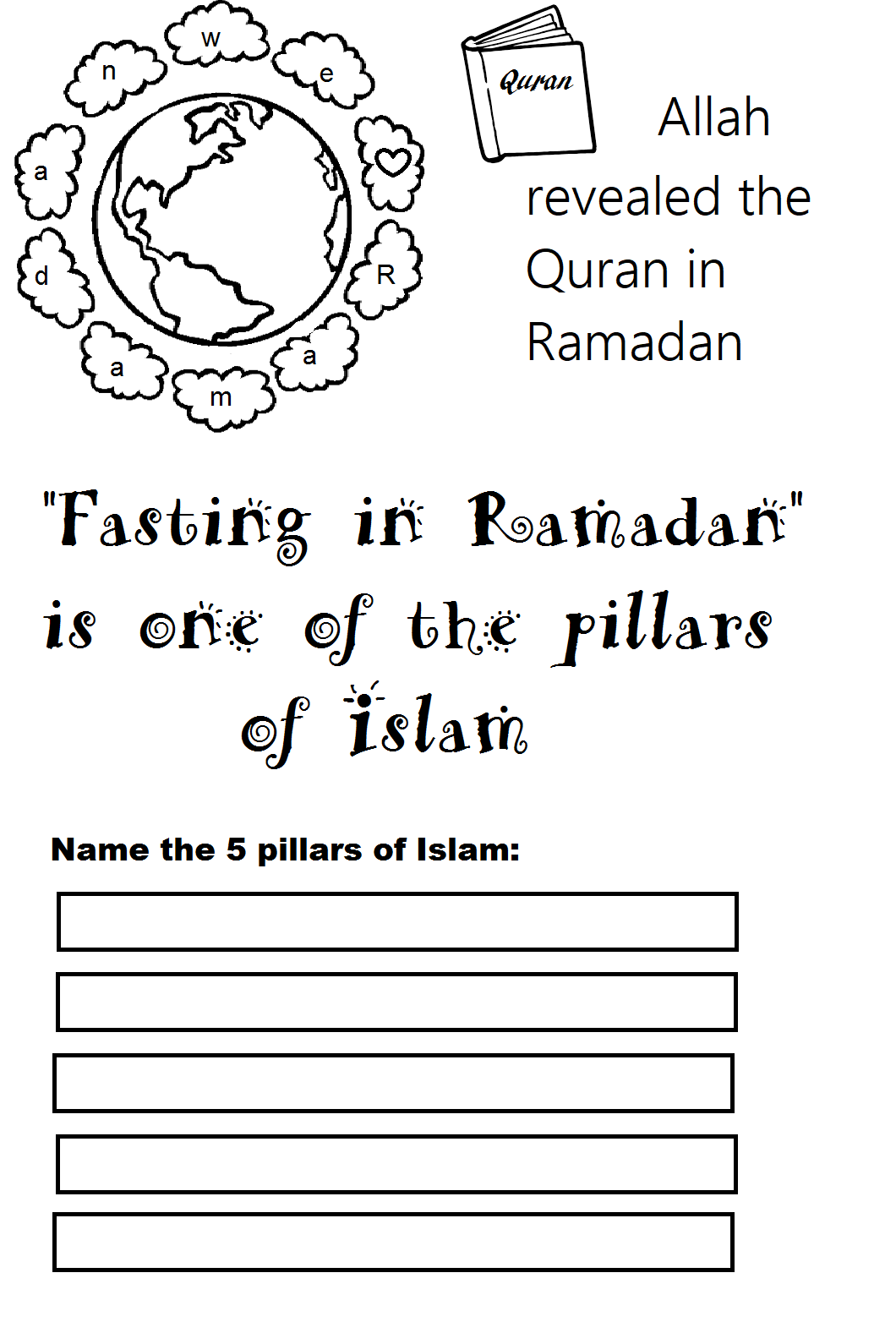 small resolution of Ramadan 1 – islamic worksheets for children
