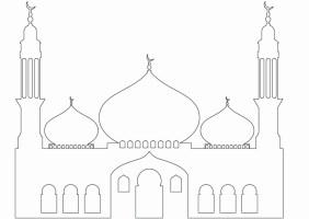 Islam Masjid / Moschee zum ausmalen für Kinder im Islam