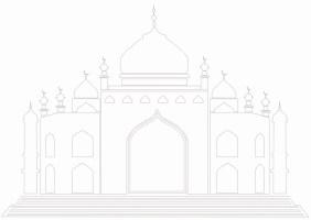 Masjid / Moschee zum ausmalen für Kinder 4   Islam im Herzen