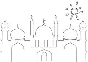 Masjid / Moschee zum ausmalen für Kinder 5   Islam im Herzen