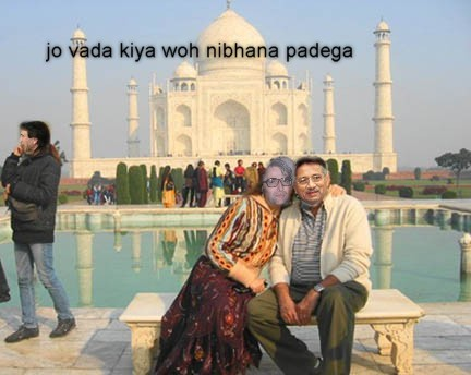 Mrs with Mussaraf_Agra