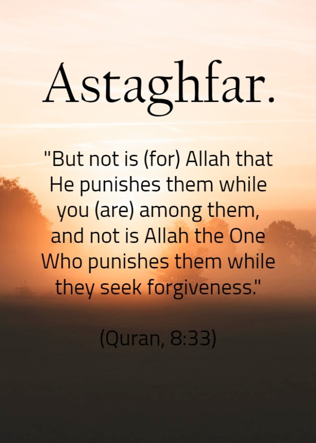 Astaghfar - Islamic Quotes in Englsih