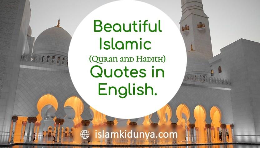 Quran & Hadith Quotes in English | Islamic Quotes