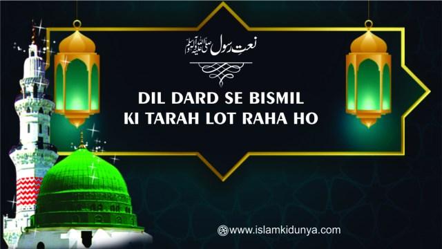 Dil Dard Se Bismil Ki Tarah Lot Raha Ho