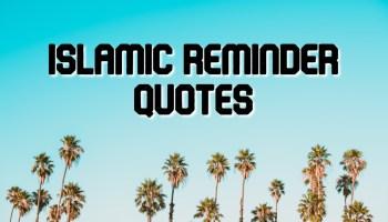 Islamic Reminder Quotes
