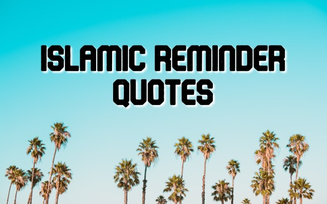 Islamic Reminder Quotes