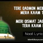 Tere Qadmon Mein Aana Mera Kaam Tha – Naat Lyrics