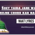 Soey Taiba Jane Walo, Mujhe Chorr Kar Na Jana – Lyrics