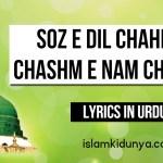Soz e Dil Chahiye Chashm e Nam Chahiye – Naat Lyrics in Urdu