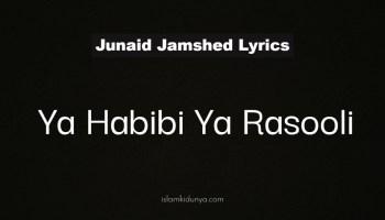 Ya Habibi Ya Rasooli - Junaid Jamshed (Lyrics)