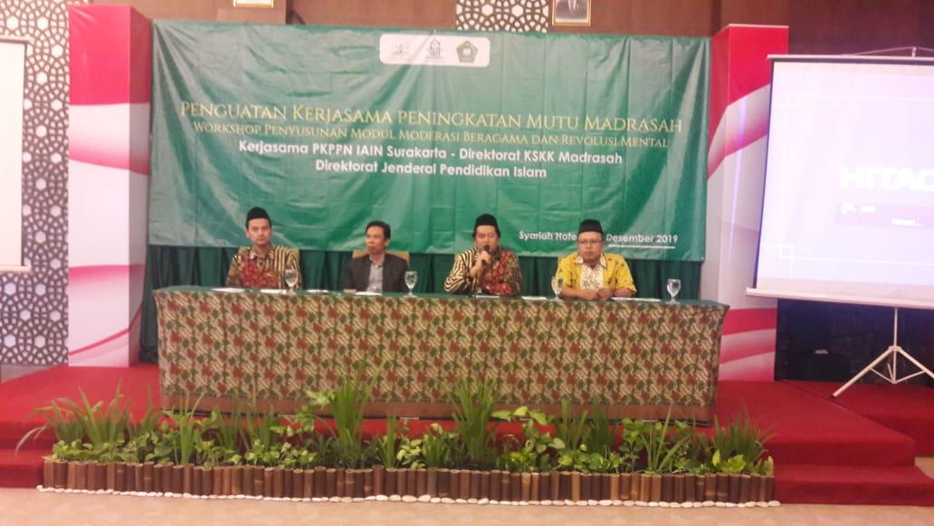 PKPPN IAIN Surakarta dan Direktorat KSKK Madrasah Menyusun Modul Moderasi Beragama dan Revolusi Mental