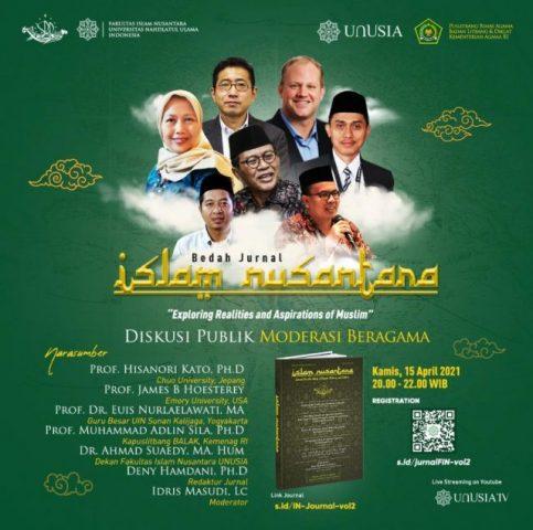 Bedah Jurnal Islam Nusantara dan Diskusi Publik Moderasi Beragama: Exploring Realities and Aspirations of Muslim