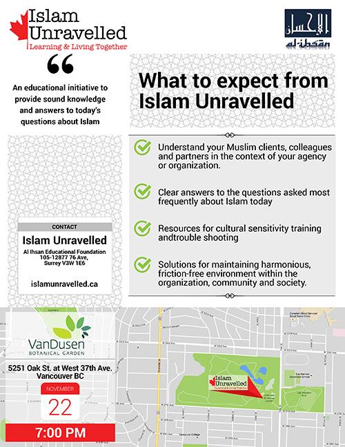 Islam Unravalled Launch Van Dusen