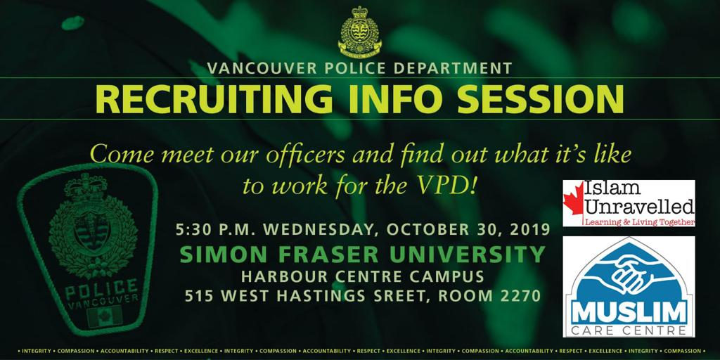 Vancouver Police Department Recruitment Session