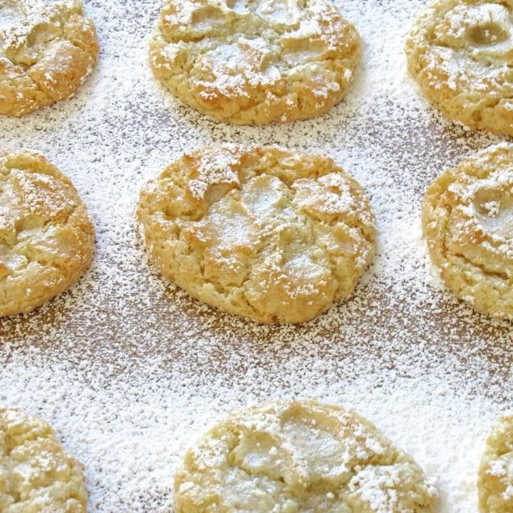 Vanilla Almond Orange Cloud Cookies