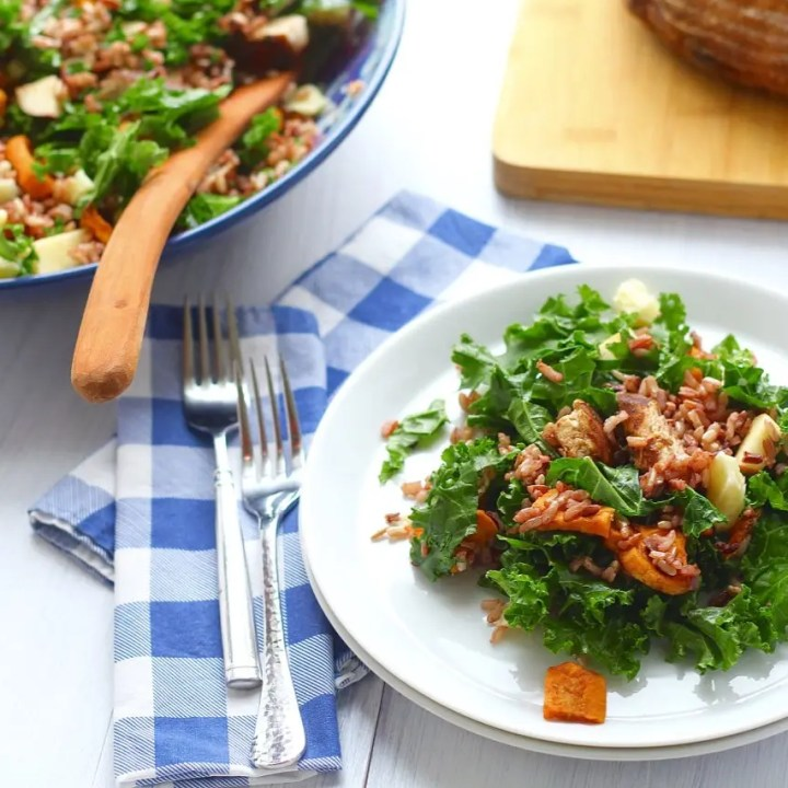 Wild Rice Salad With Chicken, Sweet Potatoes and Roasted Shallot Vinaigrette