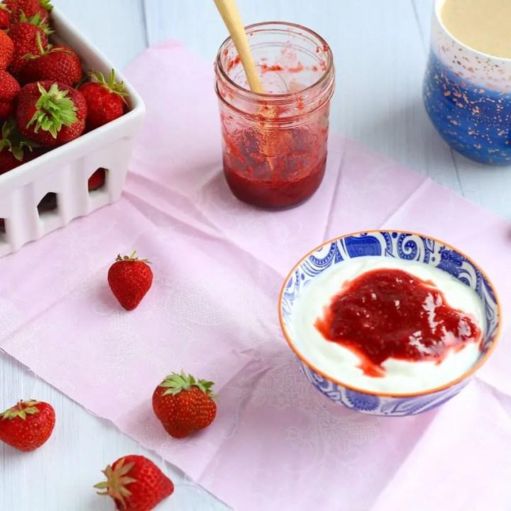 Strawberry Vanilla Honey Sauce