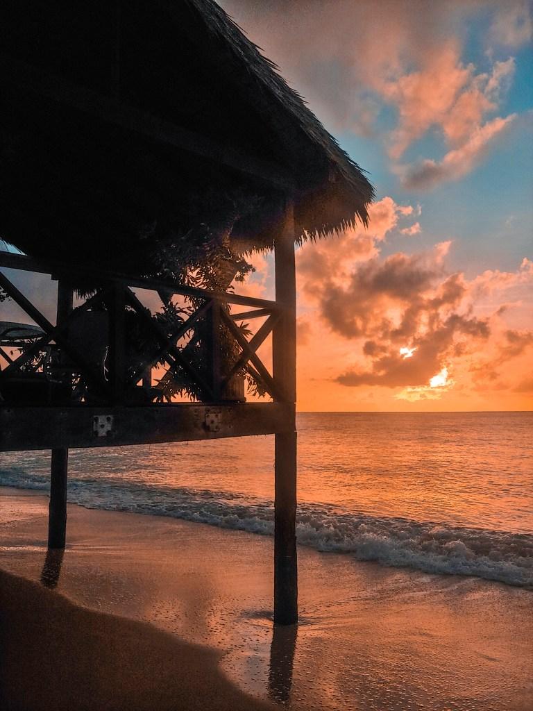 sunset on Seven Mile Beach, Cayman Islands