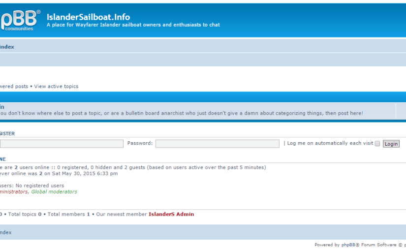 Image of Discussion-Forum-phpBB-IslanderSailboatInfo