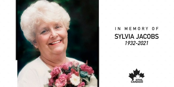 Sylvia Jacobs 'in memory' pic courtesy of the GTHL