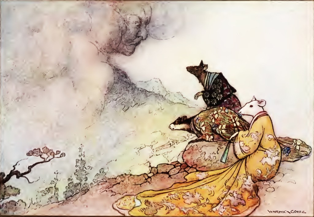 Painting: The Espousal of the Rat's Daughter (1910) by Warwick Goble
